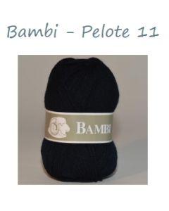 Pelote de 50 g Bambi de TDLM coloris bleu marine 11