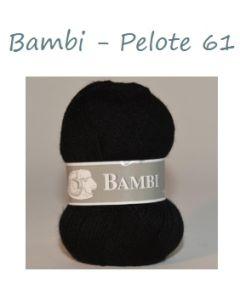 Pelote de 50 g Bambi de TDLM coloris noir 61