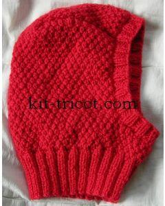kit tricot cagoule en irlandaise au point de blé 2 ans à adulte