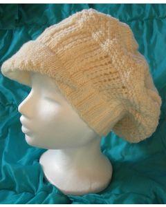 kit tricot bonnet à visière en Irlandaise taille unique adulte