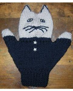 kit tricot marionnette à main n°4 : chat