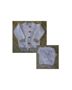 kit tricot gilet layette chien + 1 pelote gratuite + 1 fiche bonnet