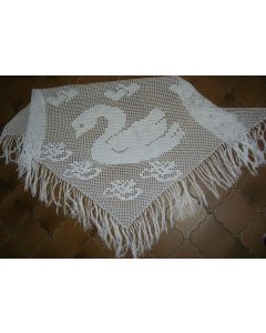 kit crochet châle filet cygne
