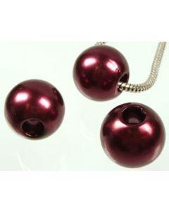 lot de 8 très grosses perles - 20 mm de diamètre - 2597 Bordeaux