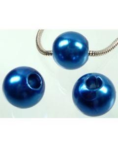 lot de 8 très grosses perles - 20 mm de diamètre - 2601 bleu