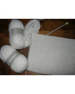 """Kit tricot """"ma première écharpe mousse"""" en IRLANDAISE"""