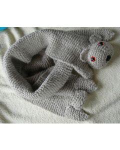 kit tricot Echarpe nounours