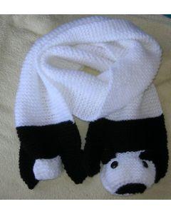 kit tricot écharpe enfant panda