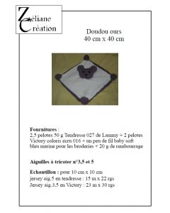 "explications du doudou de la collection ""ours brun"""