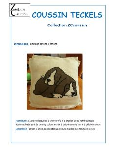 Fiche tricot coussin Teckels