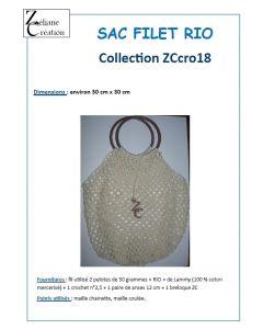 fiche crochet filet à provisions ZC avec anses spécial débutant