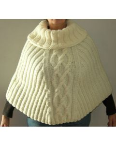 poncho bande torsadée en Canada en kit ou déjà tricoté