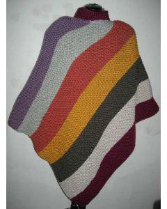 "poncho ""7 jours"" en Big Fun tricoté main prêt-à-porter + 1 snood offert"