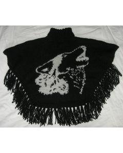 kit tricot PONCHO CHIEN LOUP taille 4 ans à adulte