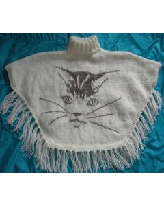 kit tricot PONCHO CHAT taille 4 ans à 12/14 ans