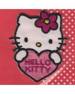 1 écusson HELLO KITTY coeur réf14255
