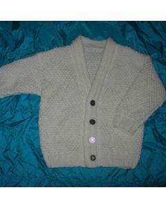 kit tricot gilet garçon col V en Irlandaise 10 à 14 ans