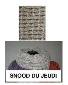 Kit tricot débutant NIVEAU 2 - snood Big Fun du jeudi