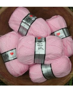 pelote 50 g Jiffy super soft coloris rose 720 bain 499
