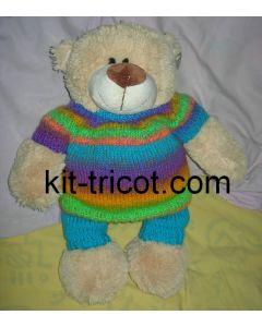 kit tricot nounours n°2 - pull rainbow 901