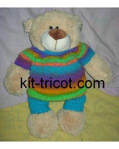 kit tricot nounours n°2 - pull rainbow 901