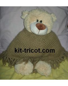 kit tricot nounours n°5 - poncho Hair