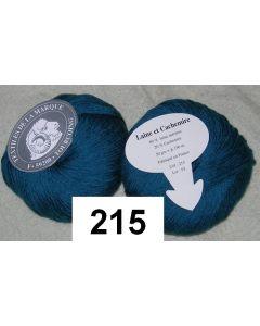 pelote 50 g LAINE ET CACHEMIRE  coloris colvert 215 bain 93