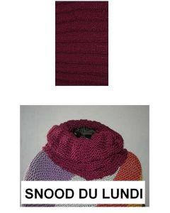 Kit tricot débutant NIVEAU 2 - snood Big Fun du lundi