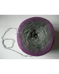 pelote 200 g MAGIC COLORS coloris 609 gris prune