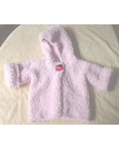 kit tricot gilet layette à capuche Tendresse ultra doux