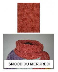 Kit tricot débutant NIVEAU 2 - snood Big Fun du mercredi