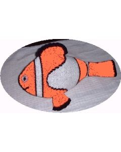 Kit tricot  peluche poisson clown environ 40 cm