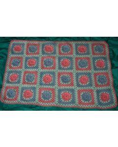 kit crochet plaid fleurs en bambi
