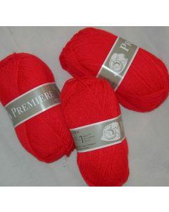 pelote 50 g première de TDLM coloris rouge vif 44