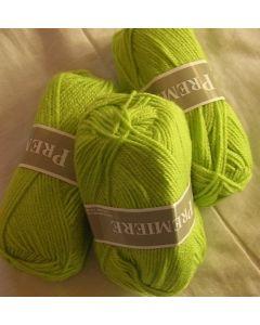 pelote 50 g première de TDLM coloris vert pistache lumineux 541