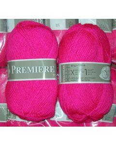 pelote 50 g première de TDLM coloris rose flashy 795