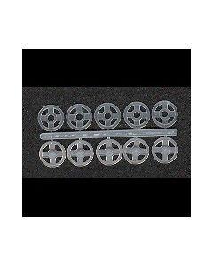 5 pressions transparentes 10 mm