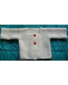 kit tricot gilet layette mousse col carré en irlandaise
