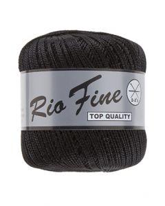 pelote 50 g coton mercerisé RIO FINE coloris 001 noir