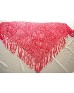 kit crochet châle bouquet de roses 100% coton