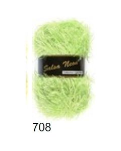 pelote 50 g salsa néon de Lammy coloris vert flashy brillant 708