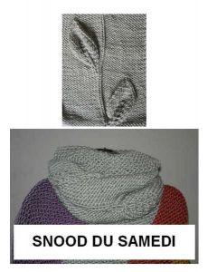 Kit tricot NIVEAU 4 - snood Big Fun du samedi