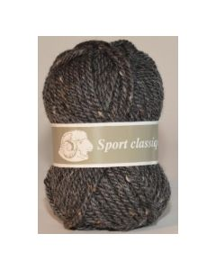 Pelote 50 g SPORT CLASSIQUE de Textiles de la Marque coloris gris foncé moucheté 299