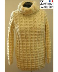 kit tricot Long pull tricot femme en Sport Classique 36 au 54