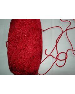 pelote 100 g  fil chainette pour déco SIMLI coloris 150 rouge