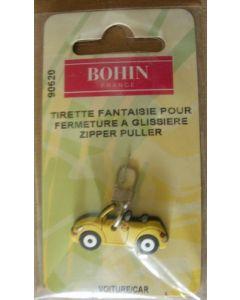 tirette fantaisie pour fermeture à glissière - voiture jaune