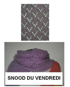 Kit tricot NIVEAU 4 - snood Big Fun du vendredi