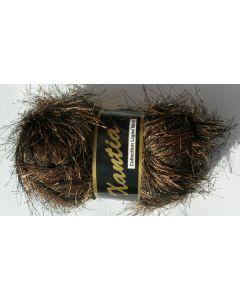 pelote 50 grammes  XANTIA coloris marron foncé