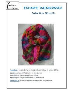 Fiche crochet écharpe rainbow902