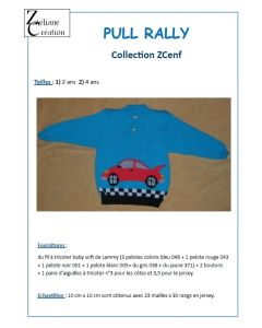 Fiche tricot du pull rally taille 2 et 4 ans